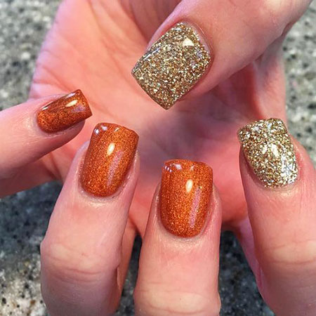 Fall Ideas Glitter Polish