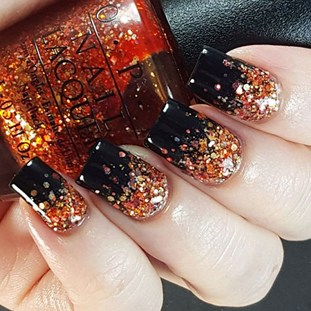 Glitter Gradient Halloween Paint