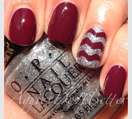 Red Silver Polish Fall