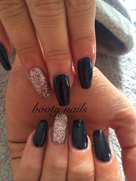 Gold Black Manicure Rose