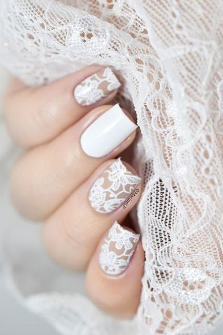 Lace Wedding Manicure Big