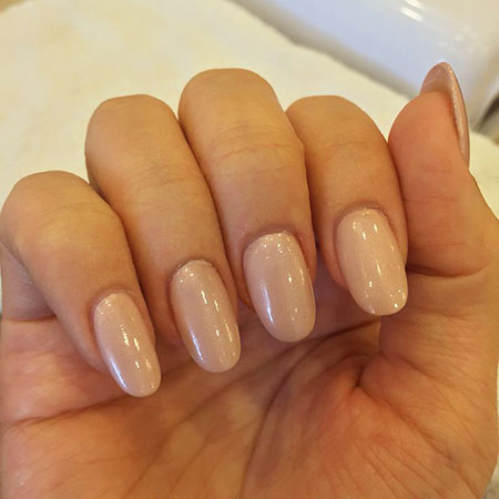 Acrylic Oval Natural Nude