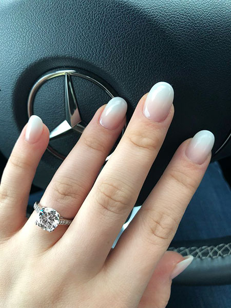 Wedding Manicure Engagement Rings