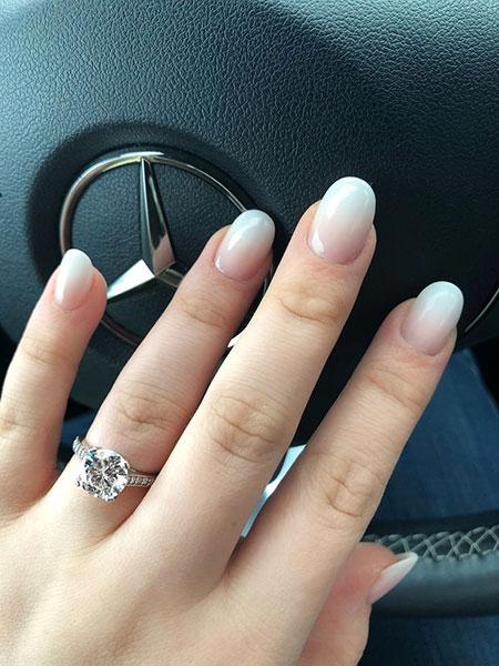 Wedding Manicure Engagement Rings
