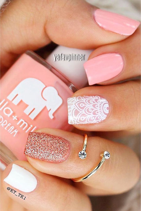 Manicure Pink Robust Application