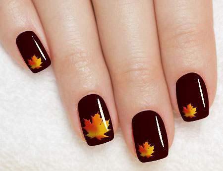 Holiday Thanksgiving Fall Manicure
