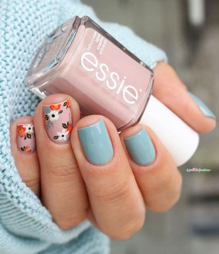 Floral Nail Art, Spring Floweral Ideas Latest