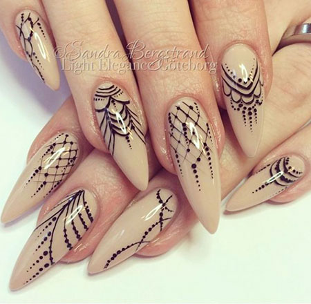 Funky Stiletto Nails, Stiletto Manicure Pretty Glamour
