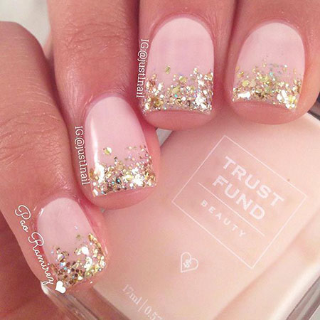 Glittered Pink Nails, But Fun Chic Year