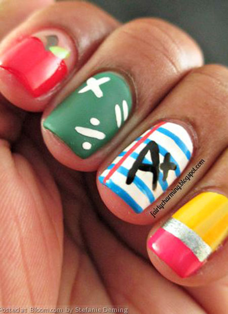 School Cute Ideas Manicure