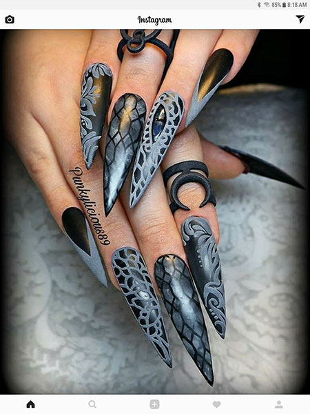 Stiletto Halloween Ongles