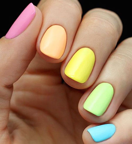 Summer Manicure Pastel Ideas