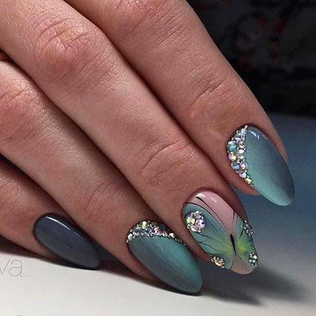Manicure Almond Butterfly