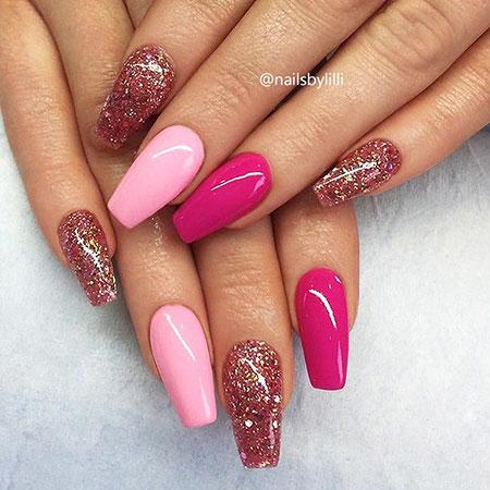 Stiletto Hot Pink Coffin