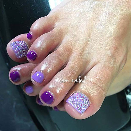 Toe Purple Pedicure Easy