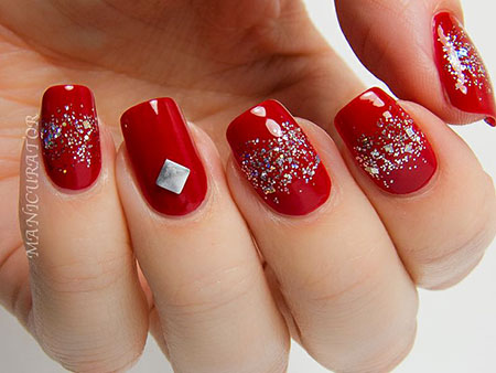 Glitter Red Polish Two