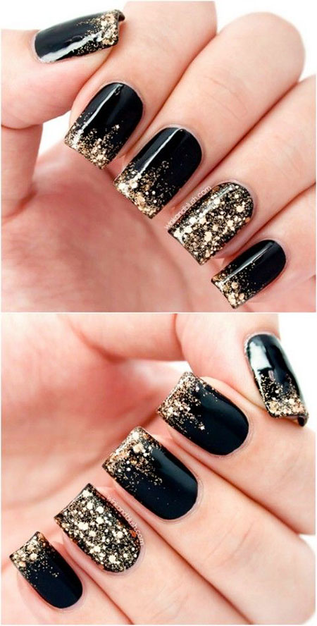 Black Gold Acrylic Glitter