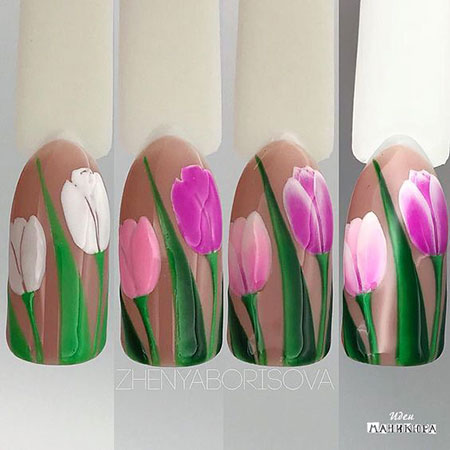 Manicure Flower Нейл-Арт Пошагово