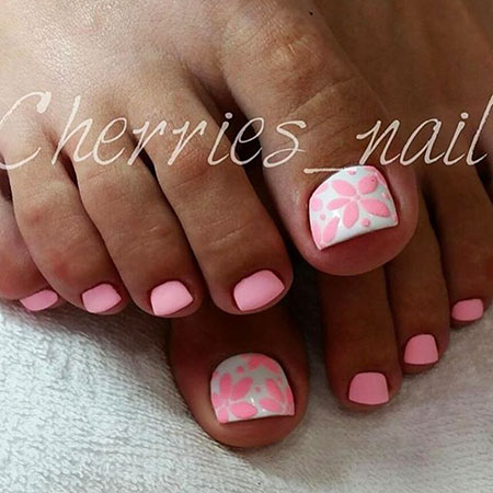 Toe Pedicure Cherry Spring