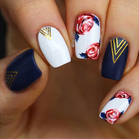 Cute and Classy Nail Art, Manicure Cute Floral Stickers