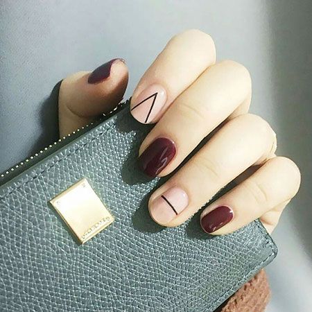 Korean Nail Art, Manicure Ideas Red Cute