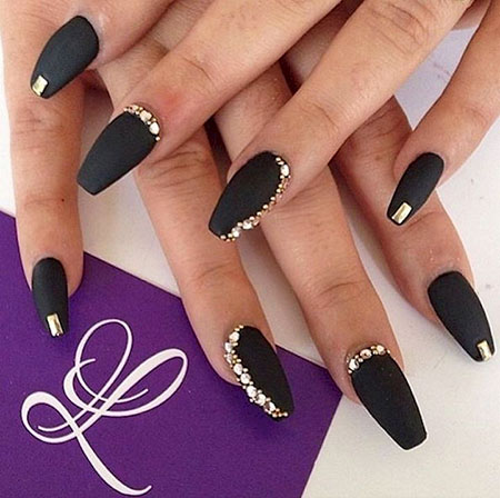 Black Matte Nail Art, Black Matte But Chic