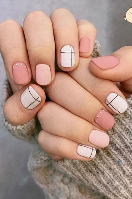 Geometric Nail Design, Spring Manicure Cute Ideas