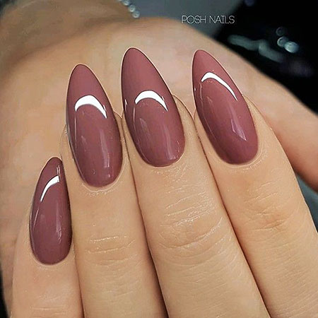 Almond Shape Nails, Manicure Long Almond Gorgeous