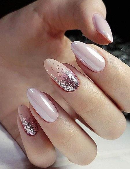 Oval Shape Classy Nails, Manicure Ideas Wedding Gel