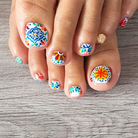 Colorful Cute Toe Nails, Toe Summer Fashion Pedicures
