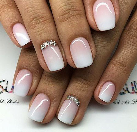 Pink White Ombre, Manicure Ombre Pro Gel