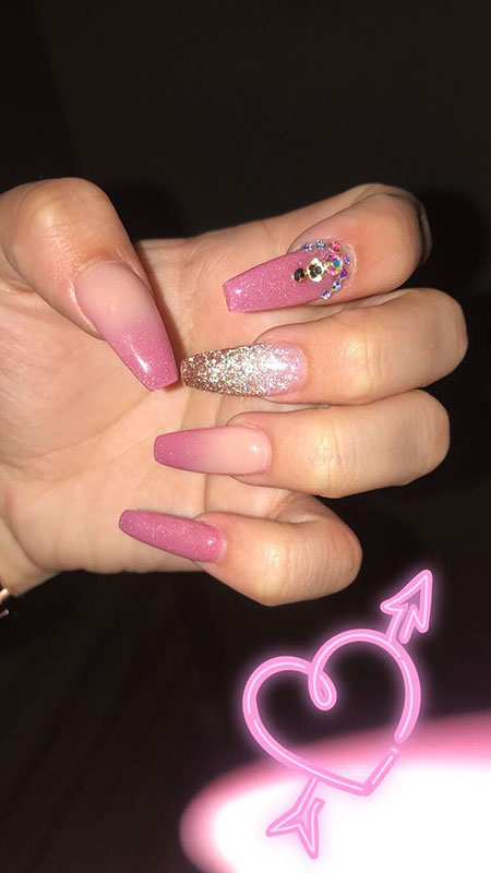 Prom Nail Art, Natural Nägel Coffin Claw