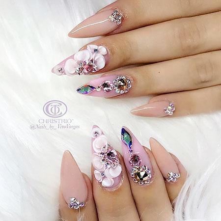 20 3d flower nail designs  nail art designs 2018