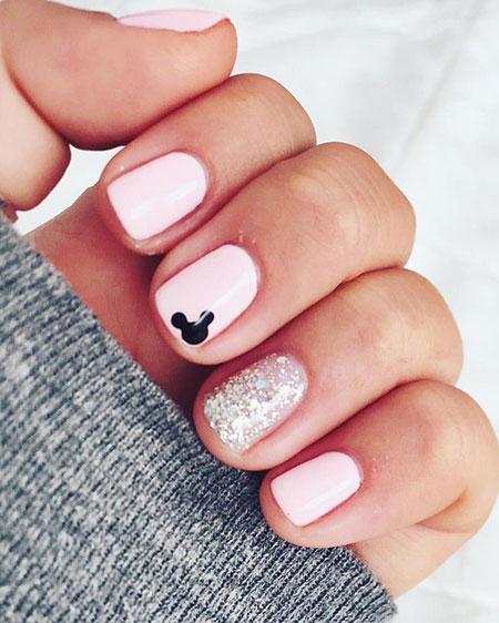 Disney Nail Design, Manicure Disney Glistening Glimmering