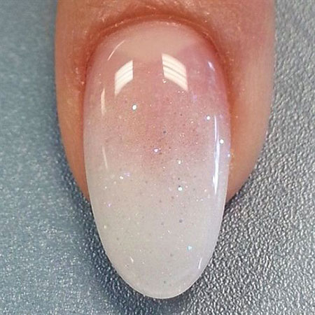 Ombre Almond Shaped Nail Art, Manicure Shape French Wedding