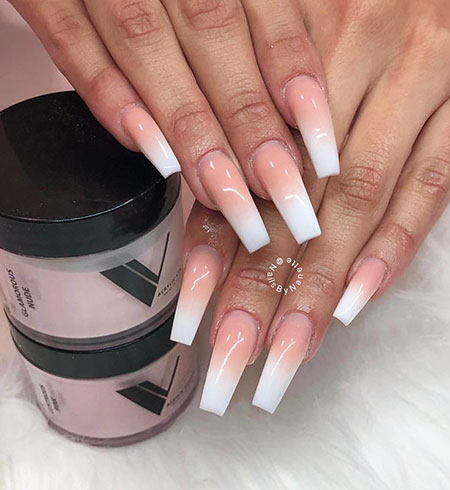 20 Ombre White Nails Nail Art Designs 2018