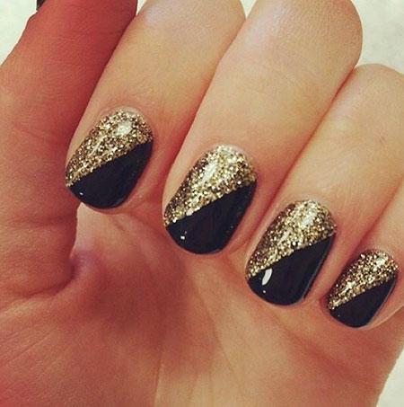 Glitter Gold Black