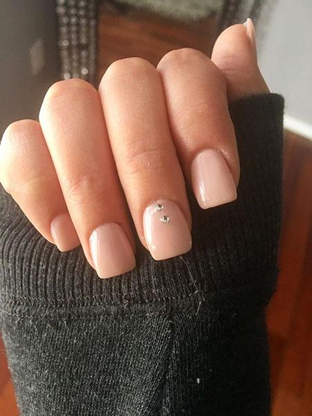 Short Acrylic Square Manicure