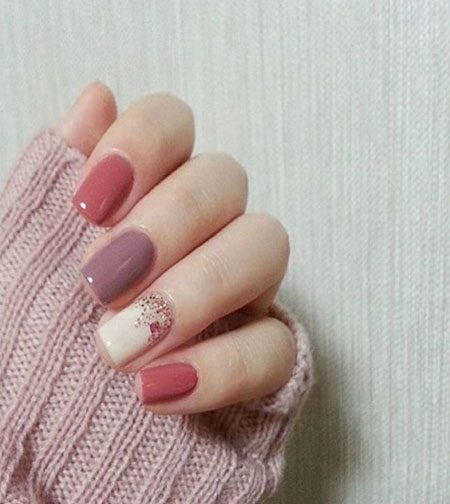 Fall Manicure Pink Ideas