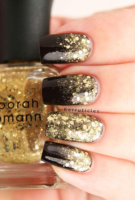Gold New Black Glitter