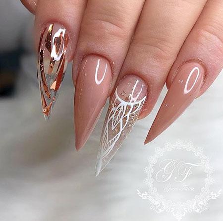 Stiletto Ideas Manicure Wedding