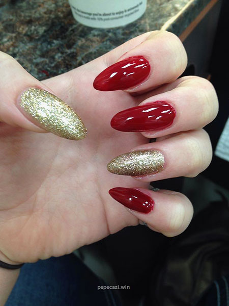 Red Gold Manicure Gorgeous