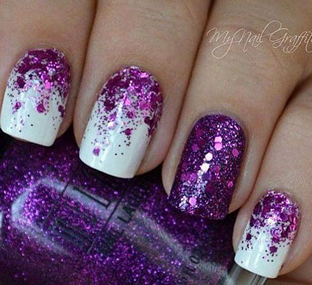 Purple Glitter Polish Top