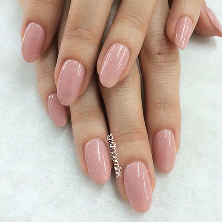 Oval Natural Pink Almond