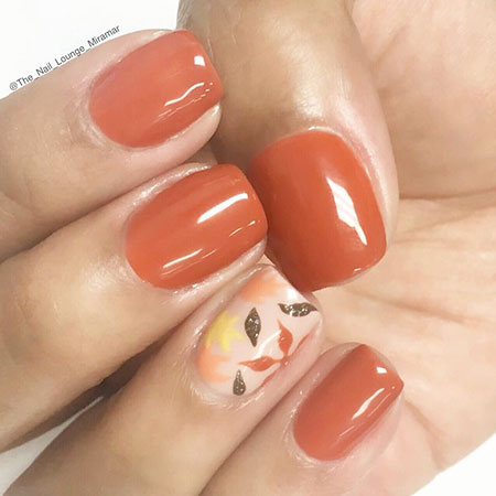 Fall Leaves Manicure Cute