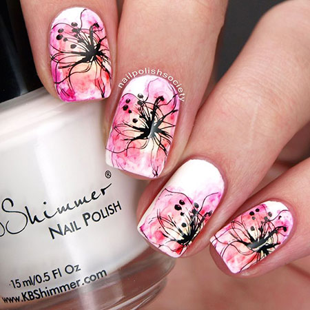 Manicure Flowers Easy Ideas