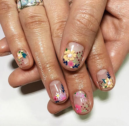 Cute Ideas Manicure Flowers