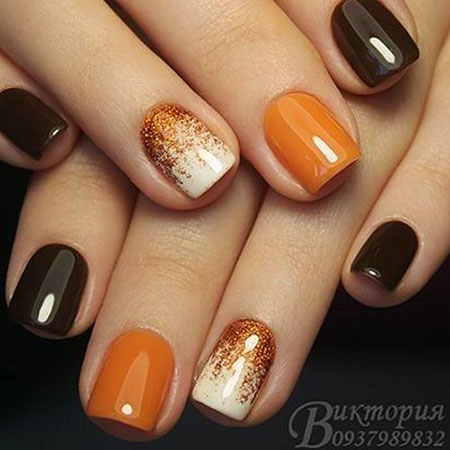 Nail Color Trend 2018, Fall Manicure Leaves Trending