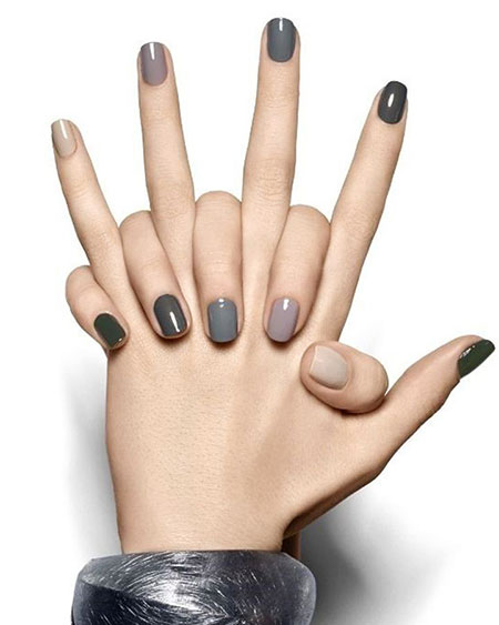 Winter Nail Color 2018, Gray Minimalist Color Winter
