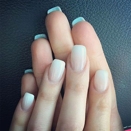Natural Nail Design Idea, Wedding French Manicure Almond